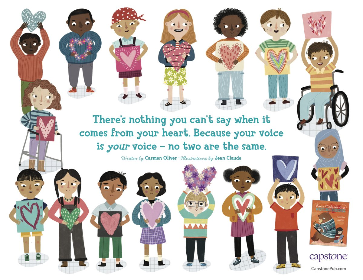 Replying to @carmenoliver: Bear and Adelaide and I say, use your voice loud and proud! @CapstonePub