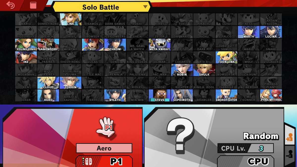 "Smash fans: ""Half the characters are just sword users!!!""  Ok let's see: 20/84 = 24% of characters  Damn bro that sure is half the roster..."