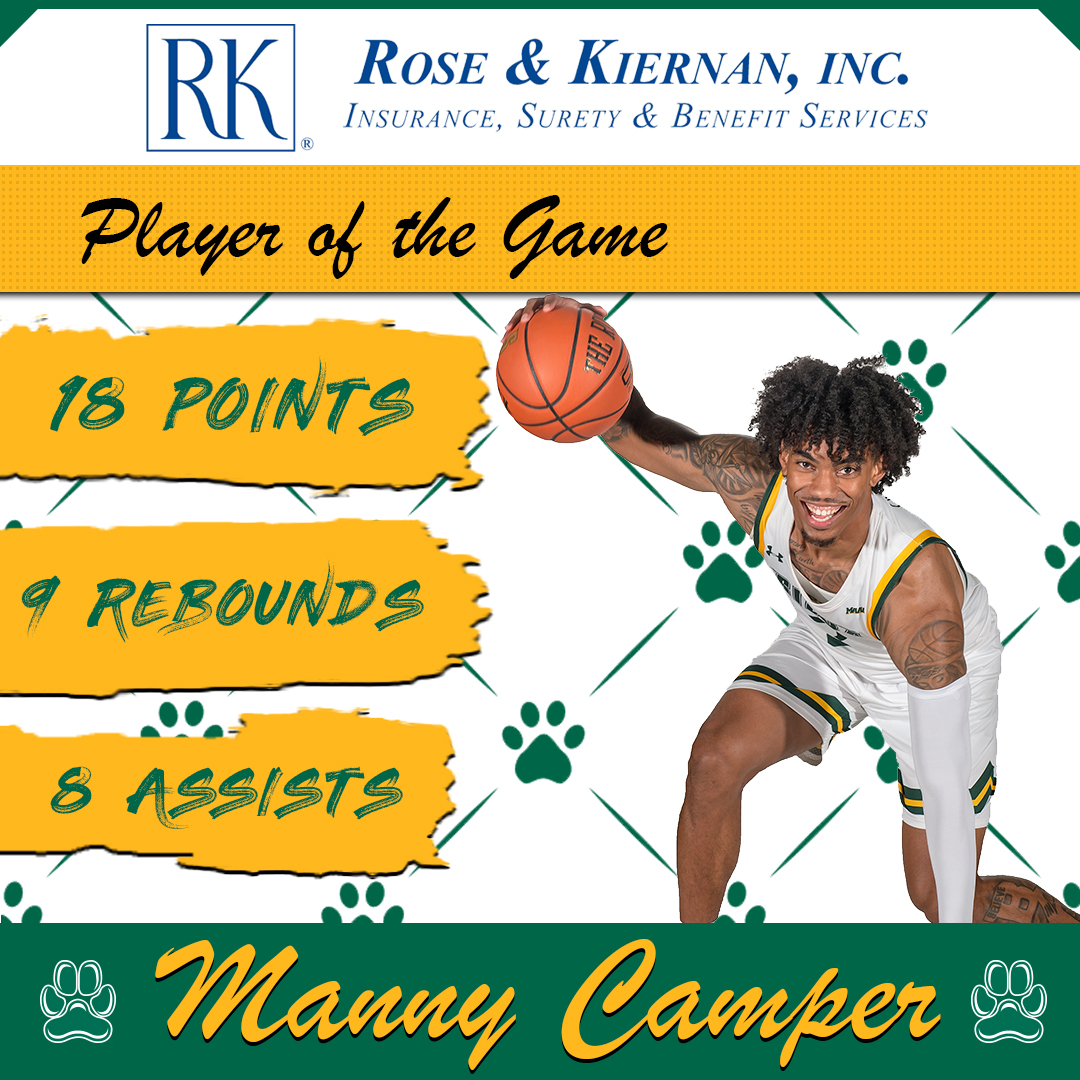 Todays @RoseAndKiernan #SienaSaints #PlayeroftheGame @_BigshotManny_ narrowly missed a triple-double, while dishing out the game-winning assist #MarchOn