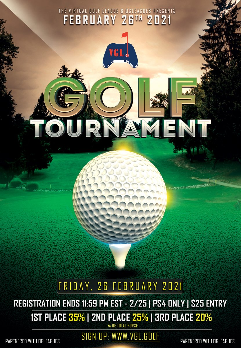 🏆 Weekend Tournament #1   💵 $25 Entry Fee 🎮 PSN ONLY 📅 Registration Ends: 2/25 @ 11:59pm EST.  🏌️  3 Rounds | 18 Hole Stroke Play ⛳️ Riviera Country Club  💰 Prizes for 1st, 2nd, & 3rd Place!   Register today! https://t.co/gRK6vLRMnF https://t.co/1CwrU88mzZ