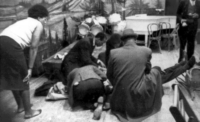 Feb 21st 1965 Four members of the NOI fired 15 bullets from a Shotgun 9mm and.45 into Malcolm X(Omowale)in front of an audience, his pregnant wife, and 5 daughters at the Audubon ballroom in Harlem... The details of his assassination