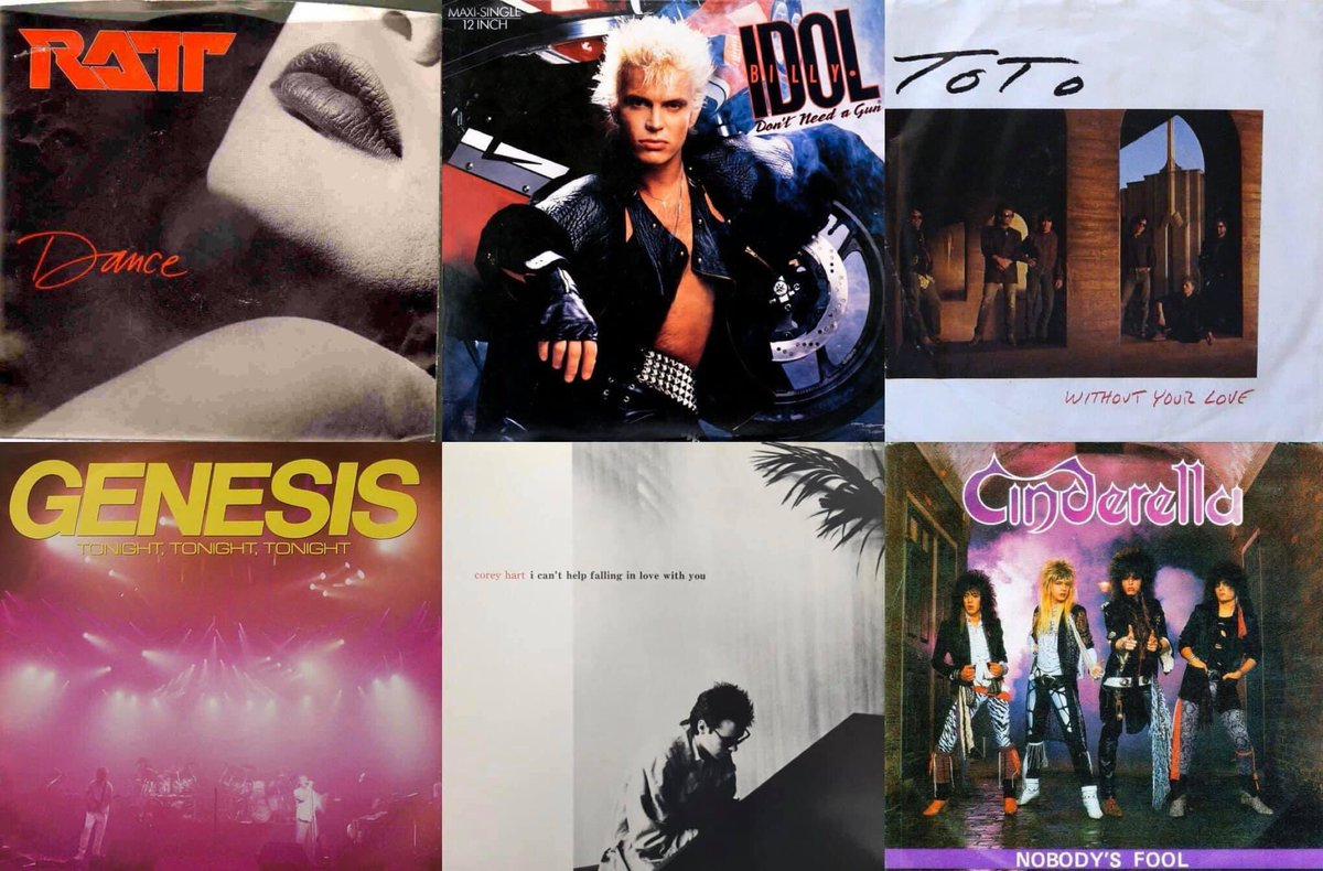 On This Day - Feb 21st 1987 Billboard's Hot 💯  92. RATT's Dance (debut) 43. Billy Idol's Don't Need A Gun 41. Toto's Without Your Love 36. Genesis' Tonight Tonight Tonight 24. Corey Hart's Can't Help Falling In Love 15. Cinderella's Nobody's Fool 1. Bon Jovi's Livin' On A Prayer https://t.co/ZoC7lX2aF7