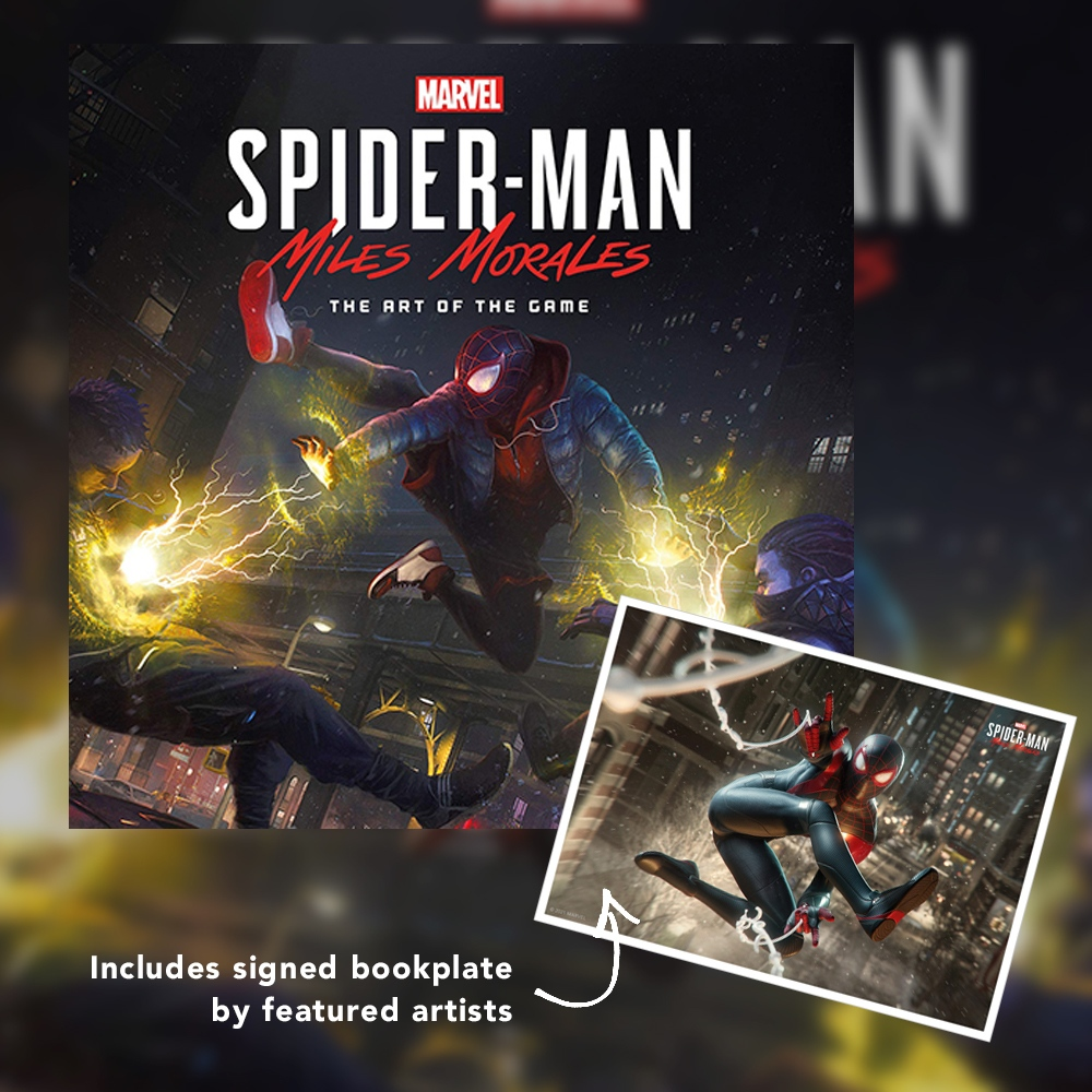 Reminders to pre-order a copy of Marvels Spider-Man: Miles Morales - The Art of the Game and submit your questions by Feb 25th for the live Q&A. All artbook purchases will also include a SIGNED bookplate! Book pre-order & event info: gallerynucleus.com/events/843?mor…