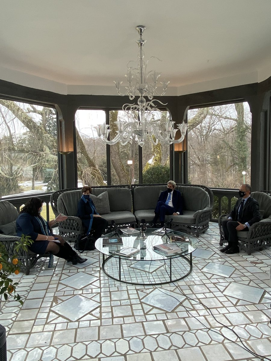 Great to sit down with Italian #AmbVarricchio, British Ambassador @KarenPierceUK, and @sbg1 on the day we officially rejoined Paris Agreement. Raising global ambition to meet this moment is vitally important. Failure is not an option.