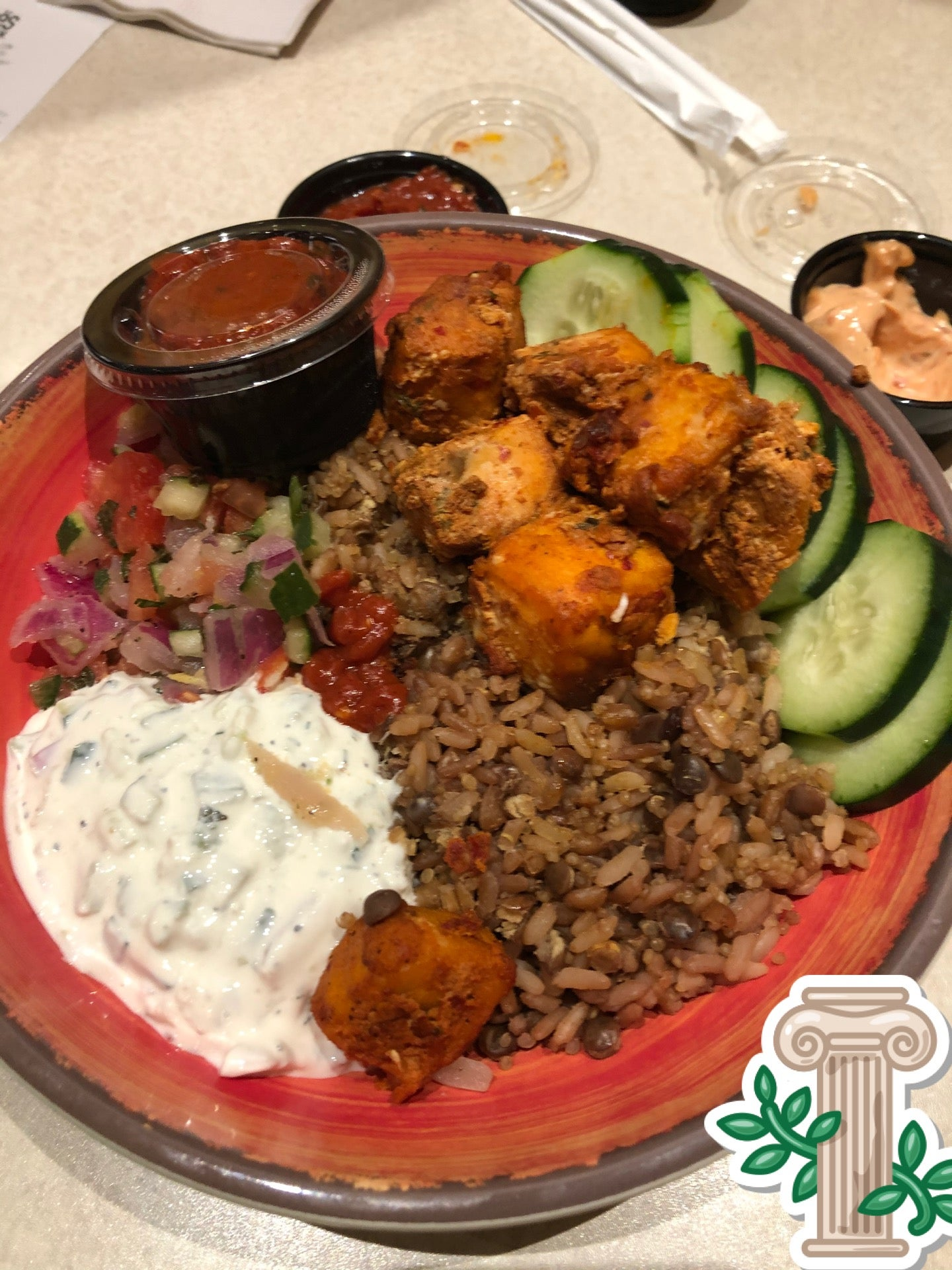 Phillysdon04 On Twitter Salmon Power Grain Bowl With Harissa Zoes Kitchen In Newtown Pa Https T Co Hbiusbkxcs Https T Co Ayhf4mncmb Twitter