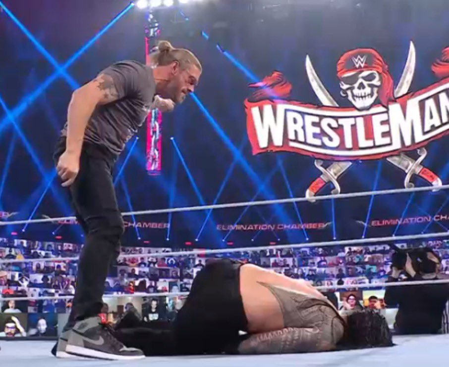 Replying to @BRWrestling: EDGE WANTS ROMAN REIGNS AT WRESTLEMANIA