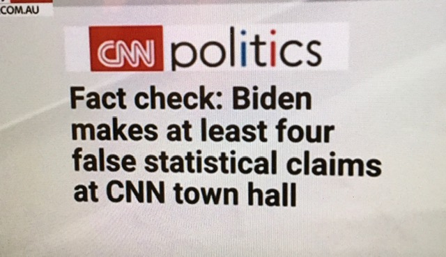 Biden's performance at the CNN Town-hall was 'shameful' - CNN even had to Fact Check his many Mistruths 🧐 #CNN #JoeBiden #CNNTownHall #BidenCNNtownhall #Politics