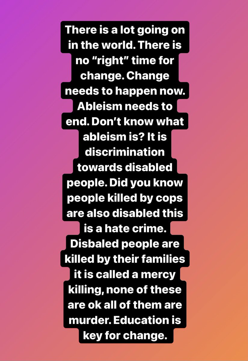 I am fed up with ignorance, and hate crimes against disabled people. Education key and ableism (discrimination against disabled people needs to end) #MakeAbleistsUncomfortable #Ableism #BillC7 #equality #disablednotdead #disabledvoices #healthcare #COVIDー19