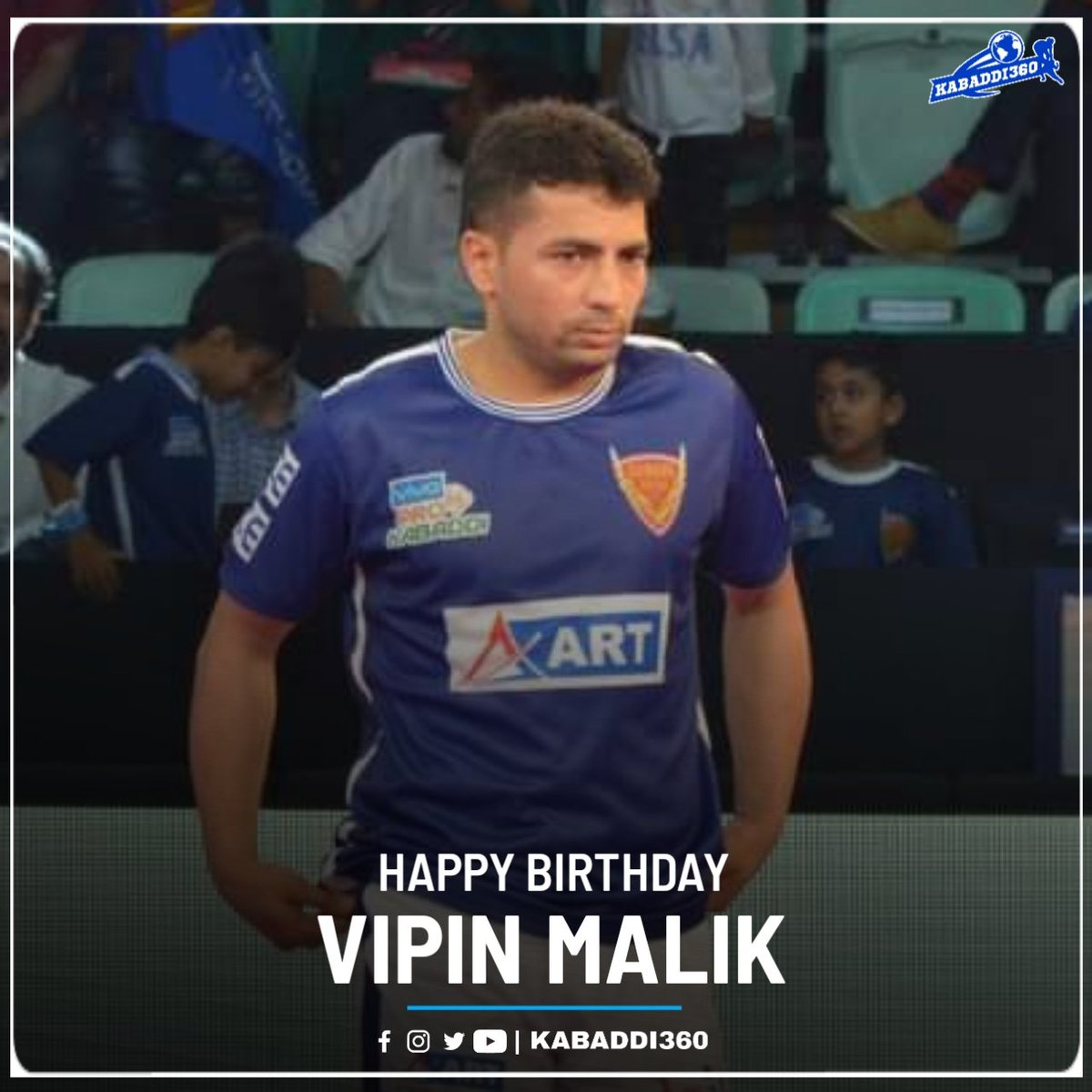 Wishing former Dabang Delhi K.C.'s raider @vipinmalik002 a very happy birthday 🎂  #VipinMalik #HappyBirthday #Kabaddi360