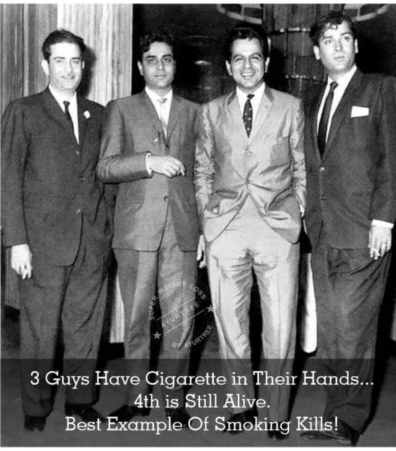 #nosmoking #smokingkills @TheDilipKumar #legendlives... #BestWayOfLiving #rajkapoor #rajendrakumar #DilipKumar #shammikapoor