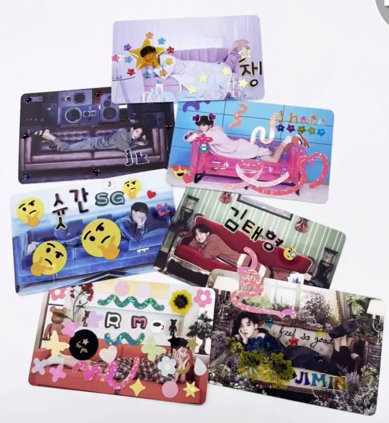 [# Bangtanbam] #BTS's be photo card time to decorate! #태어나서_포꾸는_처음이라Sparkles #함께_포꾸해요_아미 #BTS #BTS_twt #BTS_BE_Essential #BTS_BE #ARMY