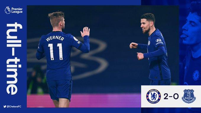 Hasil akhir Chelsea 2-0 Everton
