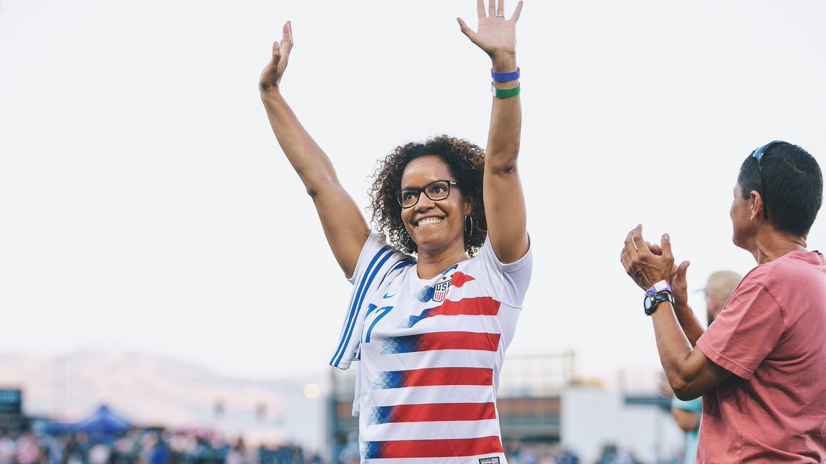 A legend on the pitch.  Now, a legend in the booth.  San Jose's own @daniellevslaton continues to shine as a member of the club's broadcast team.