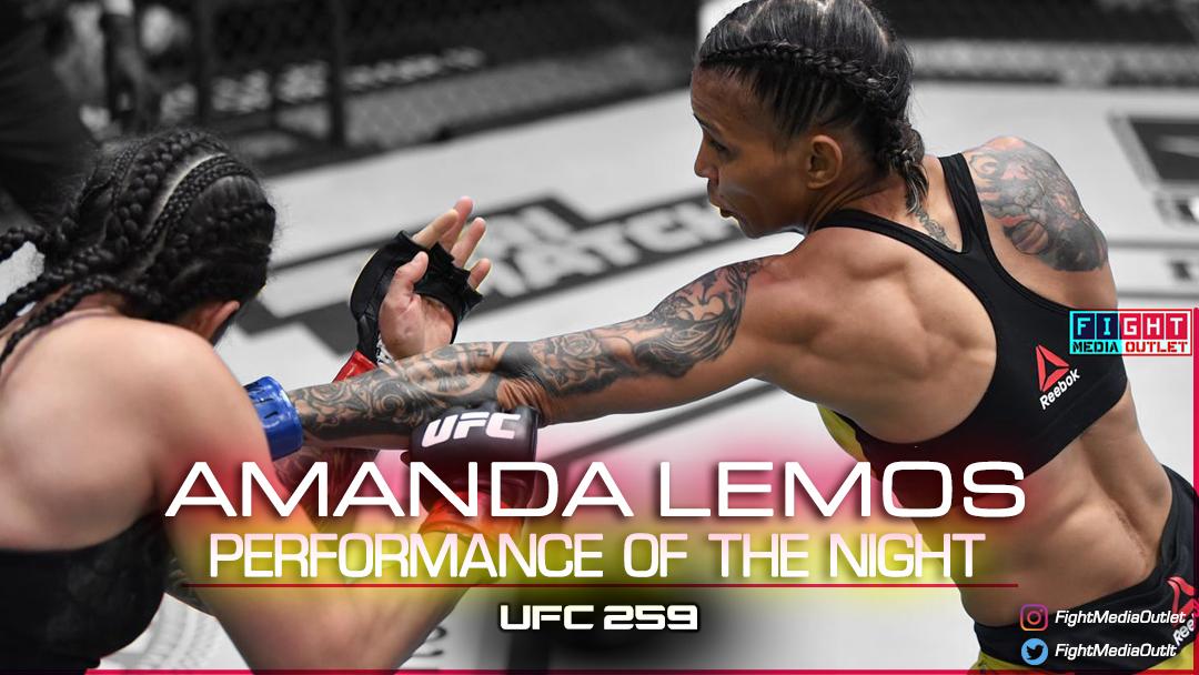 🌟PERFORMANCE OF THE NIGHT🌟 Amanda Lemos #UFC259   #UFC #MMATwitter #ESPNPlus #potn