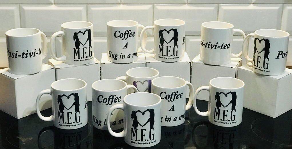 A huge thank you to Hayley Lloyd for donating these amazing mugs & magnets. If anybody would like to purchase a 'Hug in a mug', a cup of 'Posi-Tivi-tea' or a magnet then please drop us a message.  Boxed mugs are £4.99 & magnets £1.50 💖