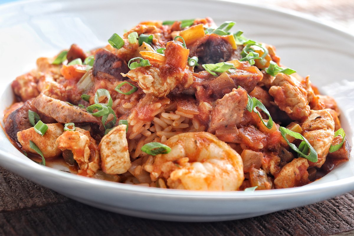"""Mark Twain once said """"New Orleans food is as delicious as the less criminal forms of sin.""""  We agree with his assessment!  #karlscabin #jambalaya #plymouthmi #restaurant #creole #southerncharm #lunch #dinner #dinein #takeout"""