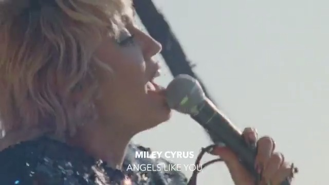 """.@mileycyrus' """"Angels Like You"""" includes scenes from her Covid-safe concert for vaccinated frontline and healthcare workers ❤️  Live shows are closer than we think, keep looking forward ✨ ⠀⠀⠀⠀⠀⠀⠀⠀⠀ ▶️"""