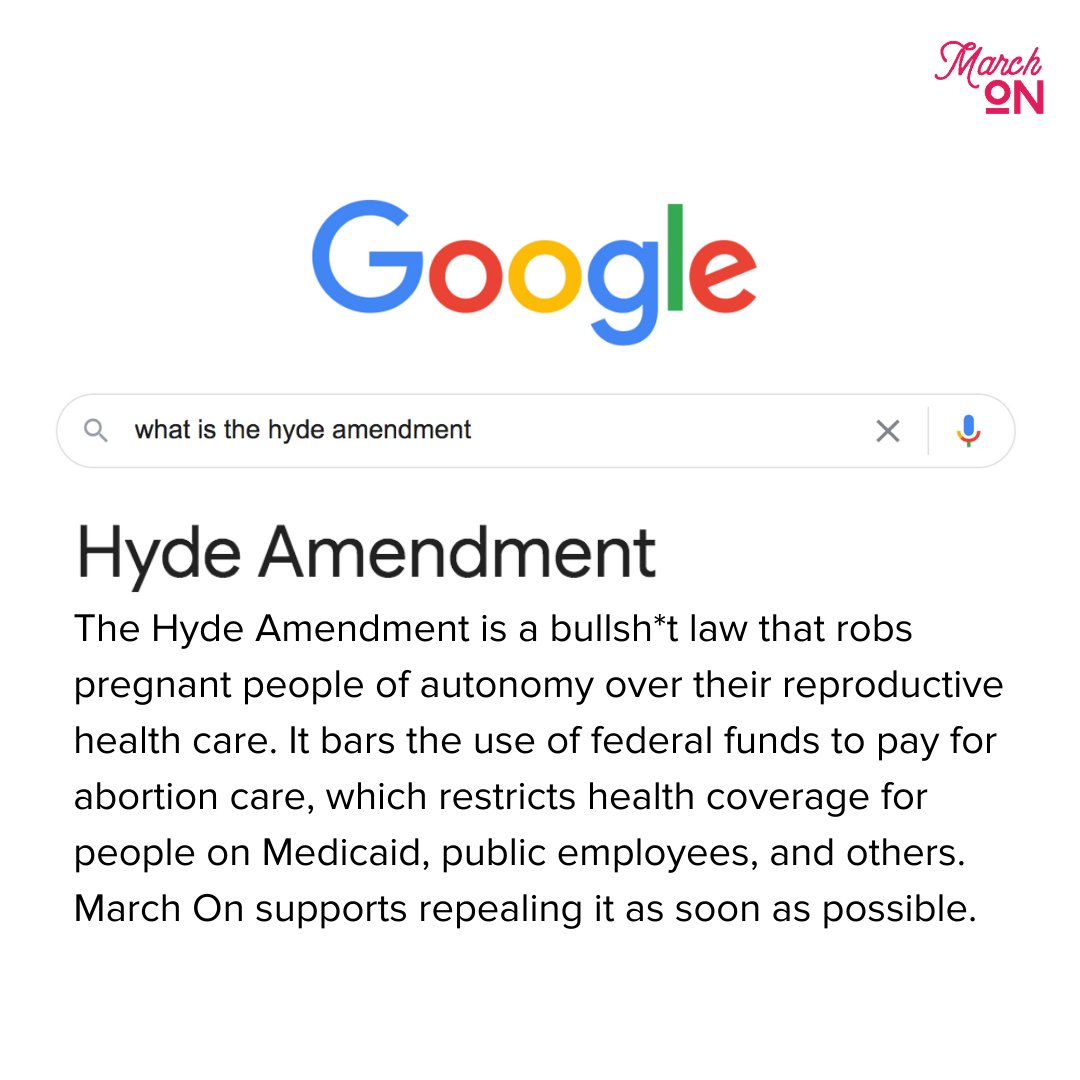 Wondering what the #HydeAmendment is and why it has to go? Here, we googled it for you. #BeBoldEndHyde