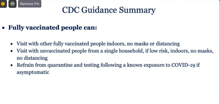 Some of the new CDC guidelines for vaccinated and unvaccinated people in graphics.