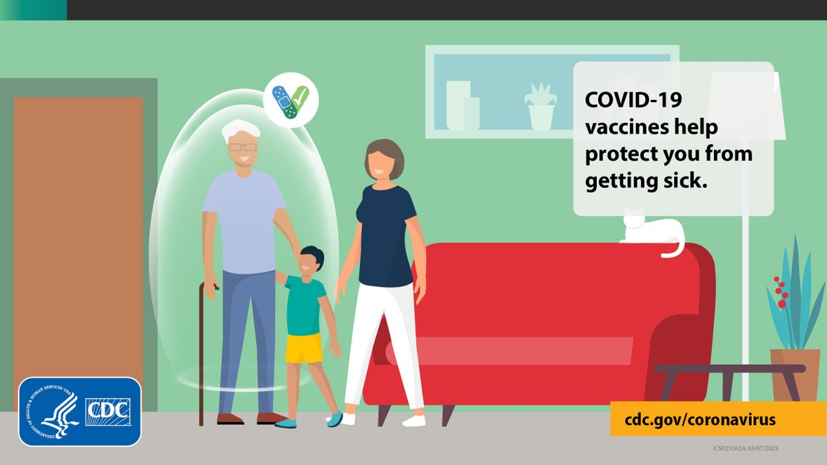 #COVID19 vaccines are effective at protecting you from getting sick. Based on what we know, people who have been fully vaccinated can start to do some things that they had stopped doing because of the pandemic. To learn more, visit: .