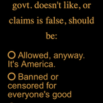 Image for the Tweet beginning: Censorship views? POLL: VOTE NOW: Go