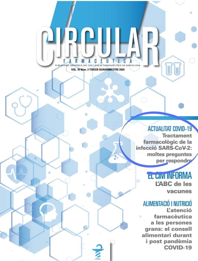 """test Twitter Media - """"Tractament farmacològic de la infecció per SARS-CoV-2: moltes preguntes per respondre"""" ✍ Publicació d'@AndreaMN8, farmacèutica especialista en Farmàcia Hospitalària [Servei Català de Salut], a la darrera Circular Farmacèutica (pàg.25). 📖https://t.co/ifv8J8YbBj https://t.co/Q8deCtSjn7"""