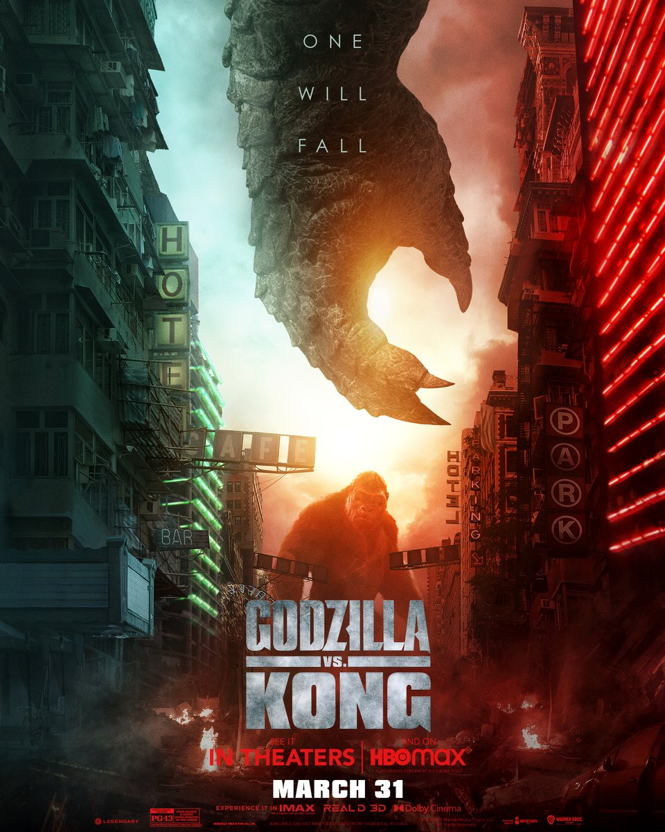 Two kings, one crown. #GodzillaVsKong in theaters and streaming exclusively on @HBOMax* March 31. *Available on @HBOMax in the US only, for 31 days, at no extra cost to subscribers.