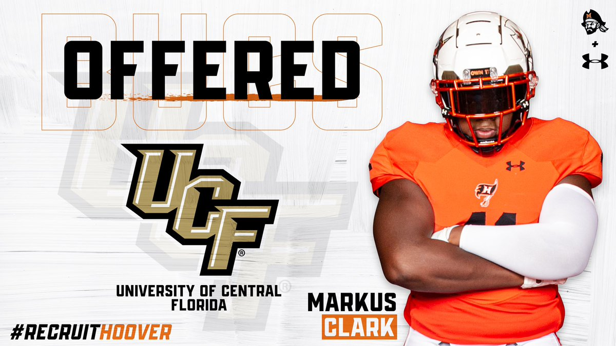 Congratulations to @markusclark05 on receiving an offer from @UCF_Football! 🏴☠️⚔️ #RecruitHoover🔥 #HooverU📍