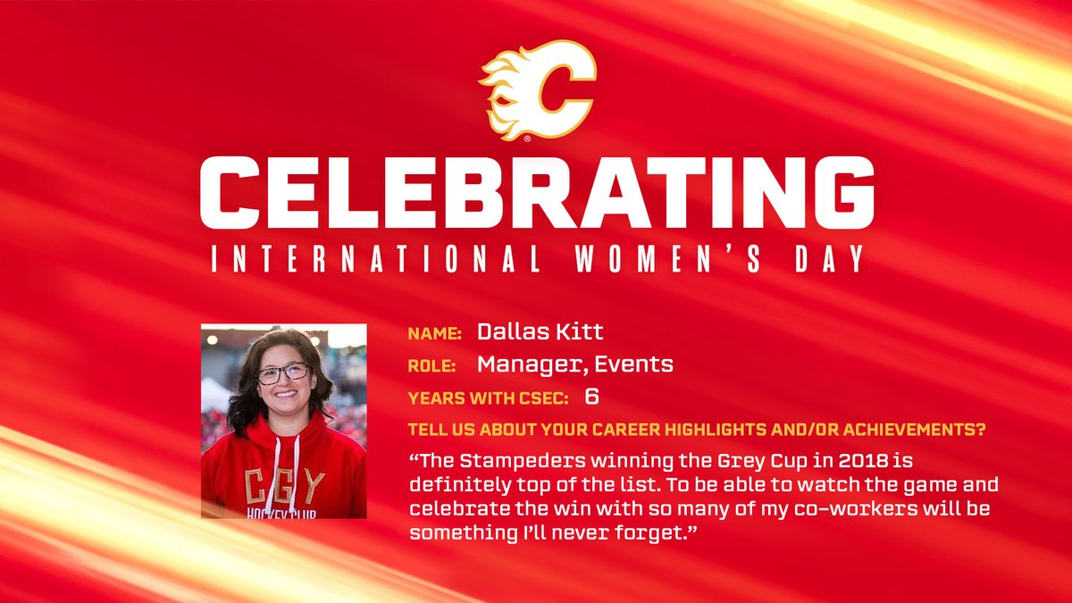 Game changer. @dallas_kitt was the leading force behind the 2019 Grey Cup Festival and drives the organization and strategy of CSEC events: cflam.es/IWD2021 #InternationalWomensDay   #NHLGenderEquality