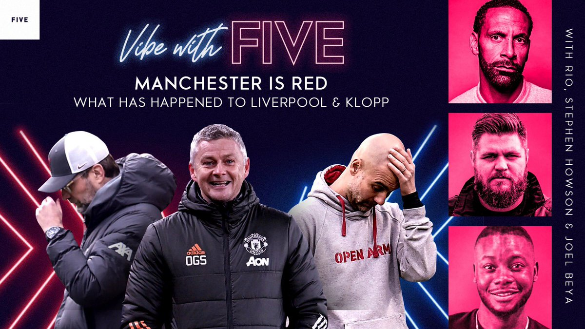MANCHESTER IS RED  Talking facts today on #VibeWithFive   ABOLISH VAR asap LIVERPOOL lost & Arsenal 😂😂😂😂 Funny Show Today Chaps!   🎙 @MrStephenHowson @joelbeya  📲