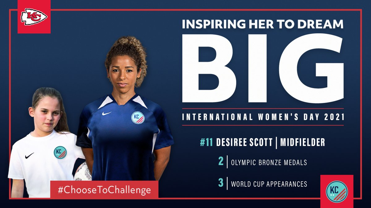 On #InternationalWomensDay, we celebrate the amazing athletes of @KCWoSo and we #ChooseToChallenge our fans to do the same. Can't wait to see them play! #WePlayForKC