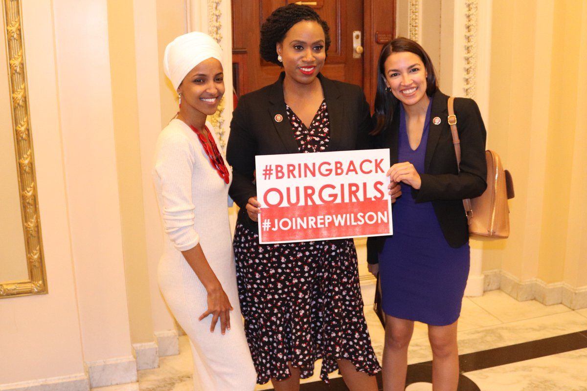 On this #InternationalWomensDay, let us not forget the #ChibokGirls who are still unaccounted for and the countless women and girls around the world who are still fighting for basic rights. @RepAOC @RepPressley @Ilhan