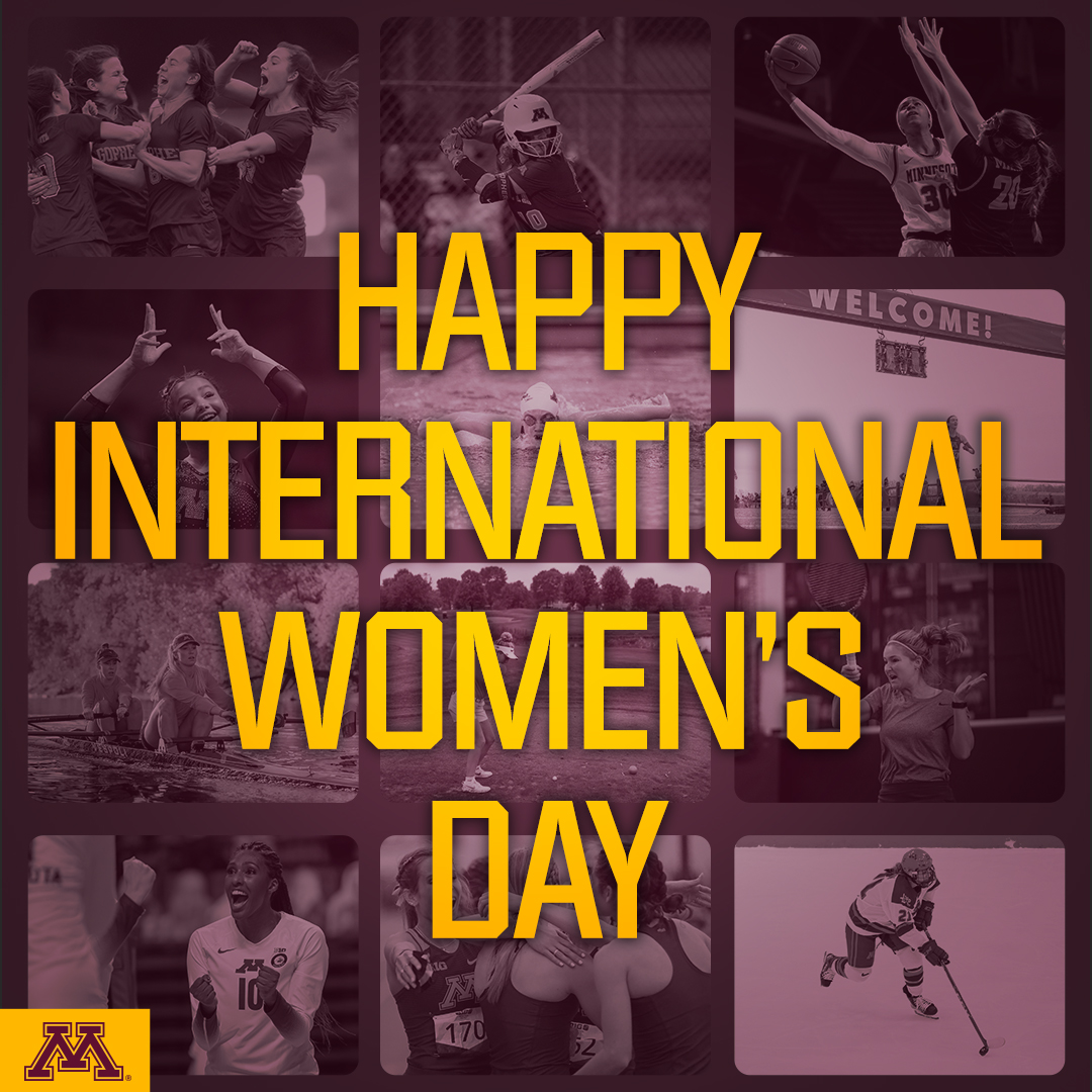 We'd be nothing without our #Gophers.   Happy #InternationalWomensDay! https://t.co/DUO9tc2XYR