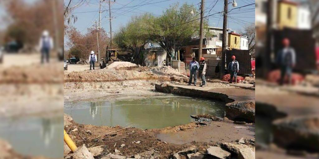 #Tamaulipas #Local | Deja mega caído sin #agua a la Industrial. 💧  ➡️   #Vecinos se quejan por la falta de #servicio y la lentitud en las #reparaciones.