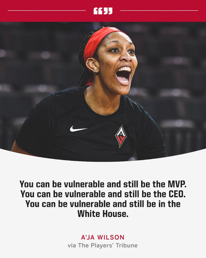 Replying to @espnW: A'ja Wilson got real when talking about mental health 👏