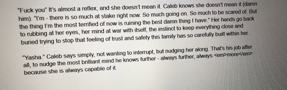 I'm over here writing beauyasha fic to Yasha 3 (highly recommend, the vibes are immaculate), and it's so self indulgent bc the empire siblings are quite simply my favourite and it shows lmao