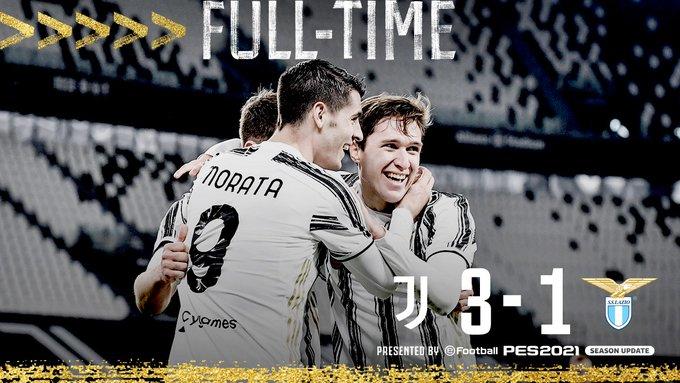 Skor Akhir Juventus 3-1 Lazio
