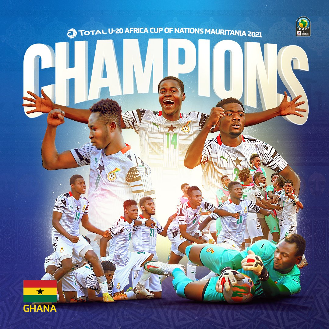𝐂   𝐇   𝐀   𝐌   𝐏   𝐈   𝐎   𝐍   𝐒   🏆  A FOURTH #TotalAFCONU20 TROPHY FOR 🇬🇭 GHANA! 👏  @ghanafaofficial