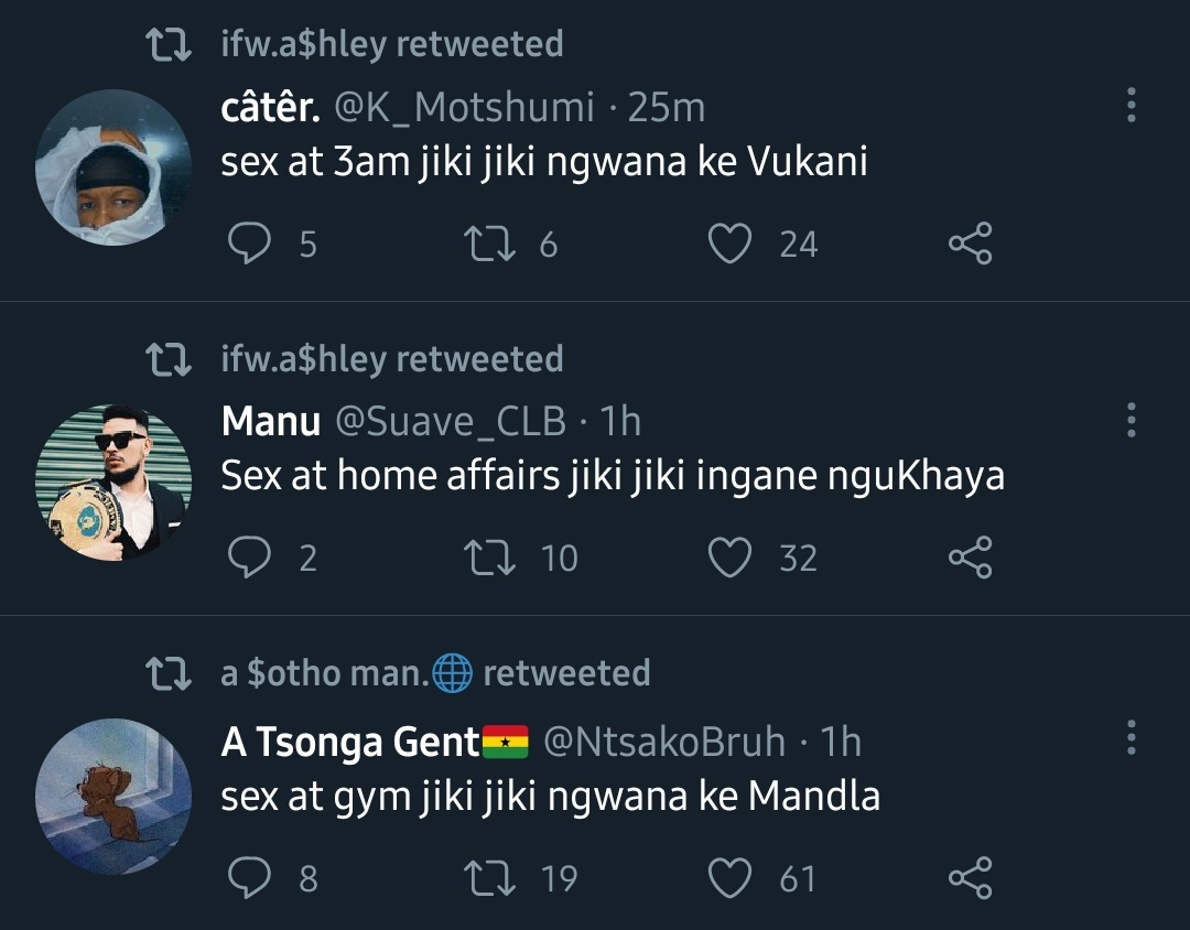 a person leaves for an hour jiki jiki the tl is full of this