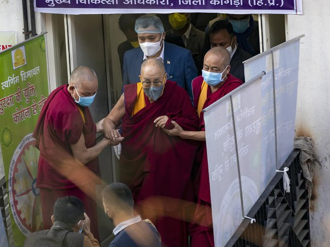 The Dalai Lama Gets A COVID-19 Shot, Urges Others To Get Vaccinated Photo