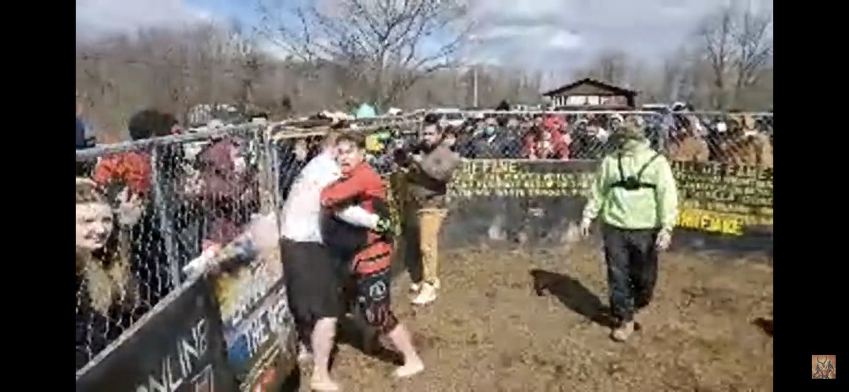 """The legend @TheReaperMMA flew to VA to fight an undefeated man named Big Smile..2 gladiators went to battle in a fenced in mud pit.  There was """"Fight forever"""" chants happening..Both men laid it on the line.  In standard definition, the men battled to a draw.  What a BATTLE"""