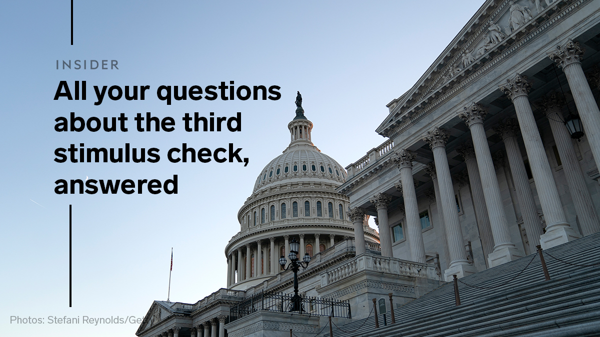 Americans are one step closer to receiving a third round of stimulus checks. The Senate approved a $1.9 trillion economic aid package on Saturday after a marathon series of votes.   Here's how to check if you qualify, and where the bill is headed next: 💸