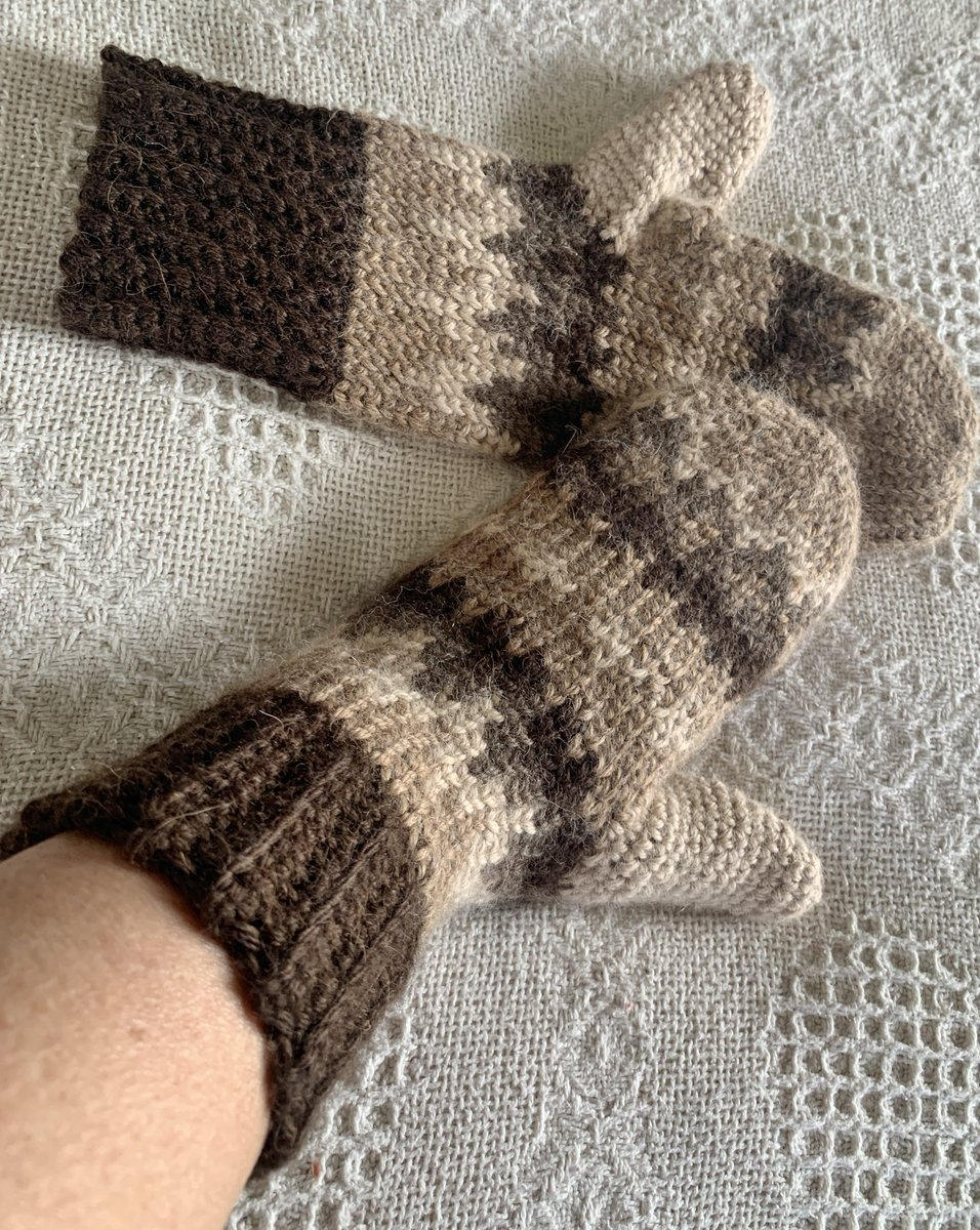 Might not be needing mittens much longer, but I just finished these Bernie Mittens made with 100% Alpaca!   These legendary mitts are available in our Online Store ,  and Farm Store OPEN TODAY from 12pm-4pm. #berniemittens #alpacayarn