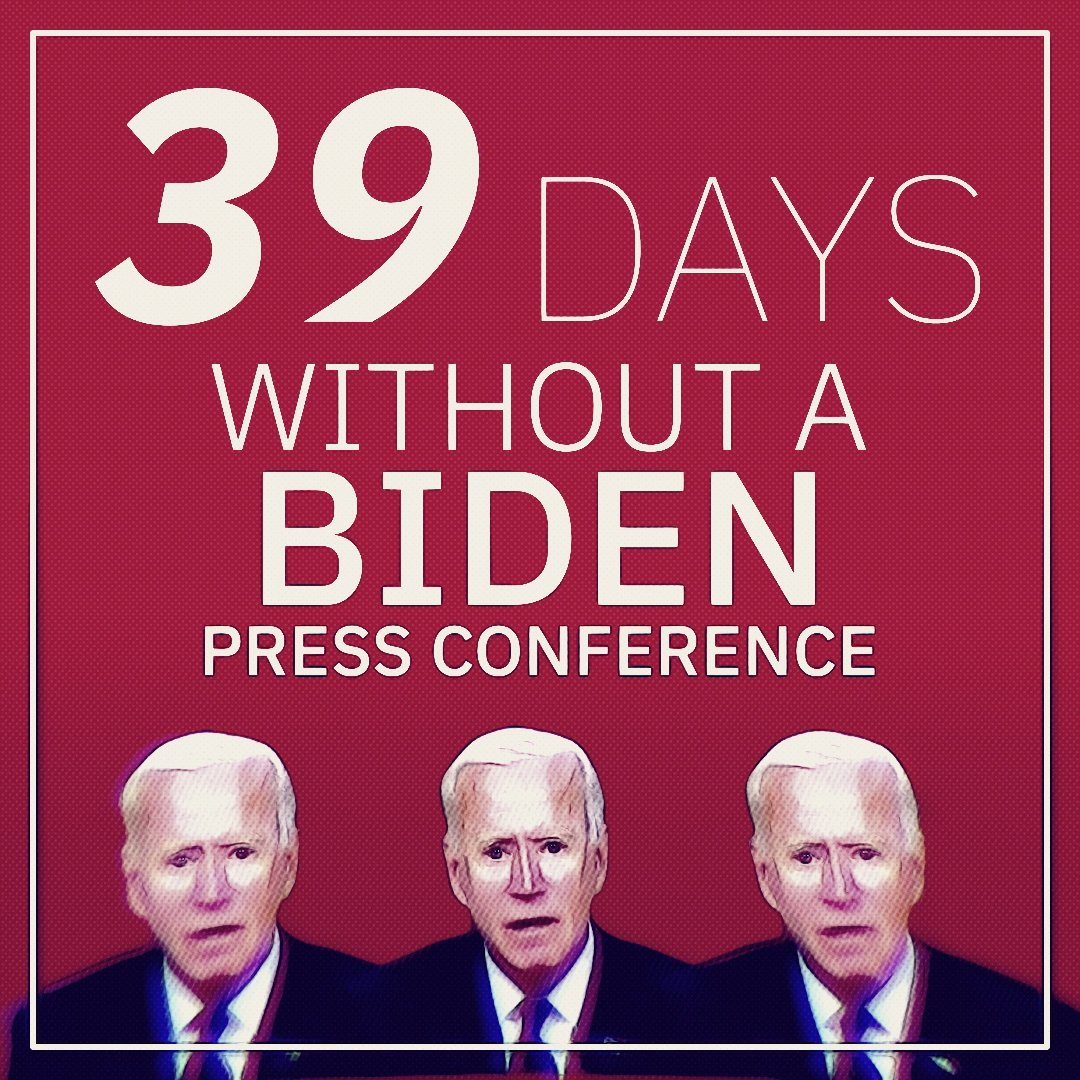 Record Pres. Biden has set: Longest amount of time a President has gone without holding his first press conference in the last 100 years.