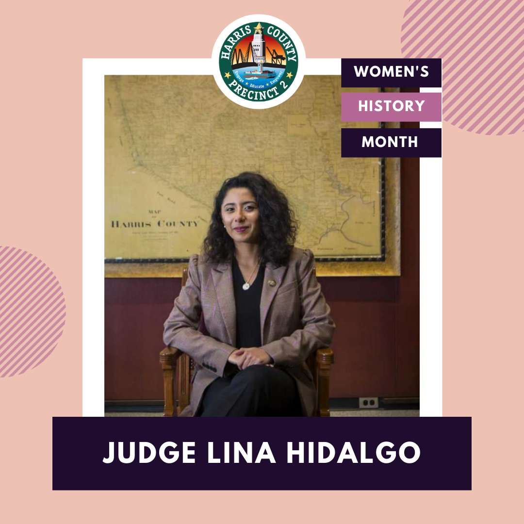In honor of #WomensHistoryMonth, we're featuring @HarrisCoJudge Lina Hidalgo. Did you know? She is the #FirstWoman and #FirstLatina to be elected for this role; and has been selected to represent #HarrisCounty on the #TIME100Next list. Check it out here: https://t.co/g8nUUZdq3I https://t.co/hFGjUDXZxP