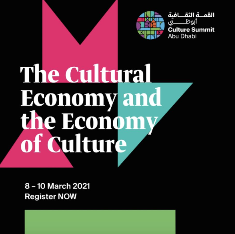 Join us on March 8 to hear the panel of experts from @UpstartCoLab @compromiso_org @artsculturefin @UNCTAD on the critical role of #impinv for the #GlobalCreativeEconomy at #CultureSummitAD2021 #InAbuDhabi Register here:  #ImpInv