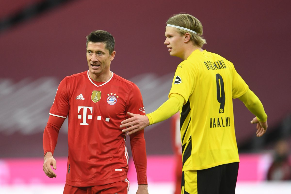 2: Haaland 9: Haaland 26: Lewandowski 44: Lewandowski This game. These two. 😤