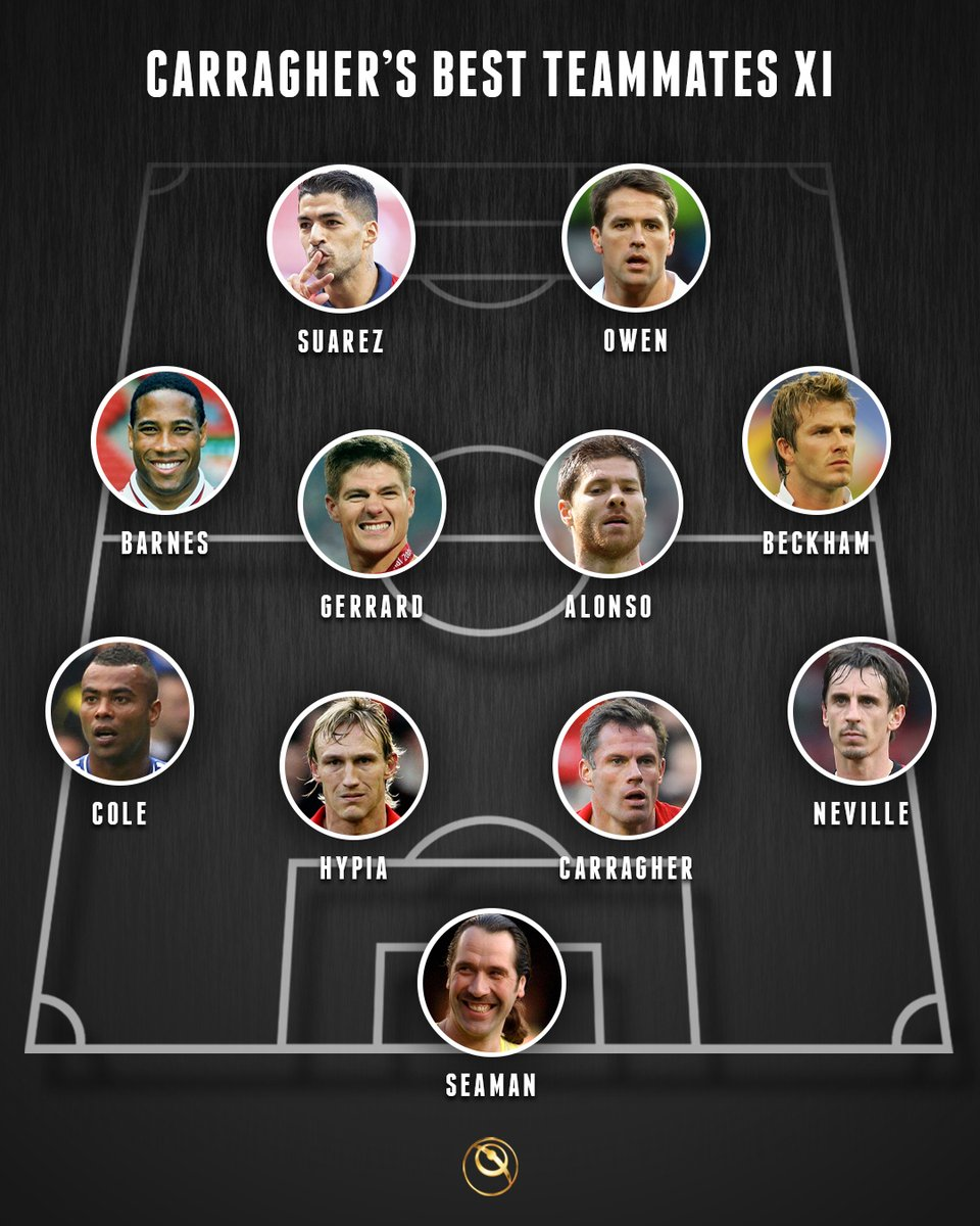 🔴 Jamie Carragher has picked an XI of his greatest Liverpool and England teammates 👉 What's your thoughts on this?
