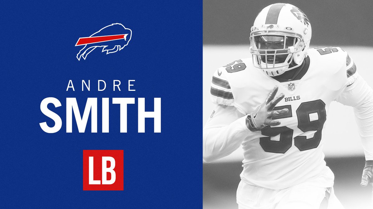 It's official.  We've signed LB Andre Smith to a two-year deal! #BillsMafia