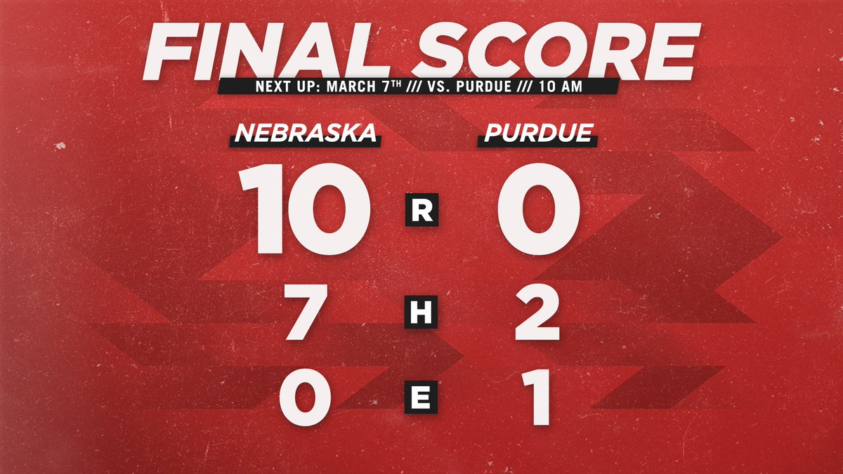 @Husker_Baseball's photo on Purdue